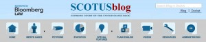 Web header of the SCOTUSBlog today